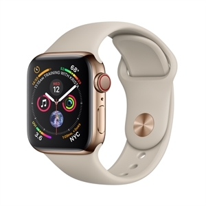 Apple  MTVN2B/A -  MTVN2B/A - WTCH S4 GPS+CELL 40MM GOLD SS STONE SPORT BAND IN - Smart Watch