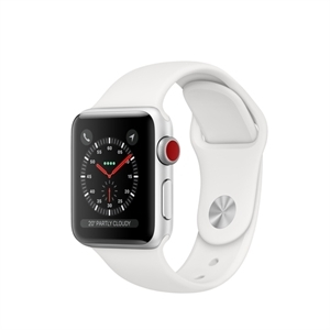 Apple MTGN2B/A - WATCH S3 GPS+CELL 38MM SILV WHITE SPORT BAND IN - Smart Watch