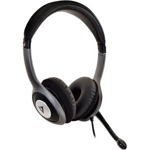 V7 HU521-2EP DELUXE USB HEADSET W/MIC ON CABLE CONTROL 1.8M CABLE IN