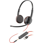 Plantronics 209747-101 BLACKWIRE C3225 USB-A IN Wired Binaural Headset